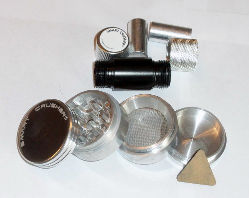 SMART CRUSHER® Magnetic Aluminum Herb Pollen GRINDER + SMART CRUSHER® POLLEN PRESS COMBO