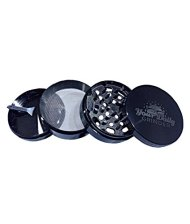Herb Grinder-Your Daily Grinder- 4 Parts 2.5″ Chromium hard top with Pollen Catcher – Best Used Dry Herb, Spice, Tobacco, Salt, Pepper Etc.-New Cool logo Luxury Style in Gunmetal Heavy Duty Durable Metal -FREE Scraper-Lifetime Warranty