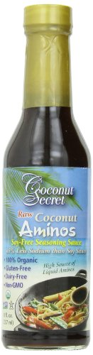 Coconut Secret Organic Raw Coconut Aminos Soy-Free Seasoning Sauce-8 Oz