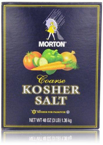 Morton Coarse Kosher Salt, 48 Oz