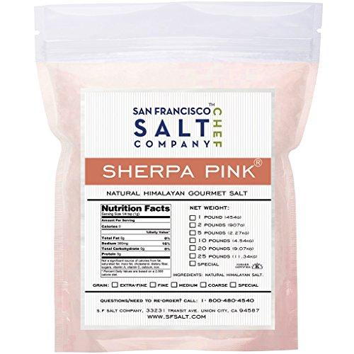 Sherpa Pink Gourmet Himalayan Salt 5 Lbs Medium Grain