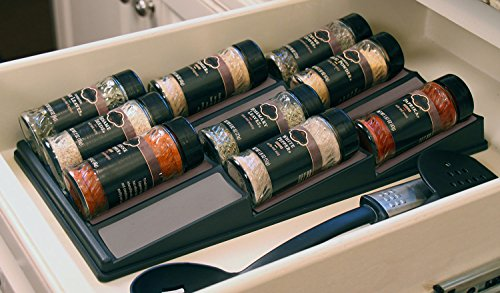 SPICEdock – In-drawer spice bottle storage / Spice rack / Spice Tray