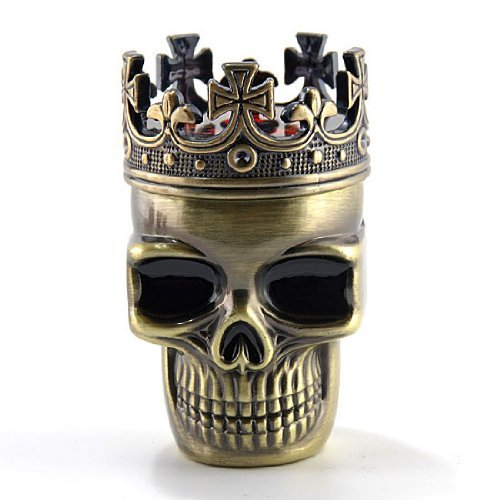 Vktech® Creative King Skull Shape Metal Tobacco Grinder Herb Spice Muller Crusher
