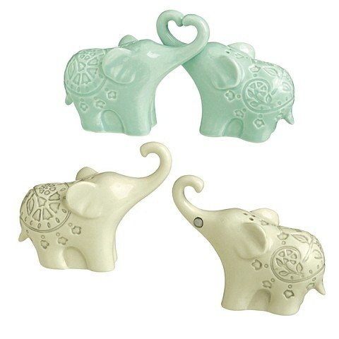 Grasslands Road, Being Mindful, Magnetic Elephant Salt & Pepper Shaker Set # 463446