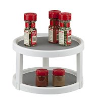Non-Skid Cabinet Organizer Spice Rack (Twin Turntable 10.25″)