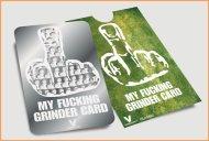 My Fucking Grinder Card- V Syndicate Grinder Card