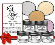 Chef Cherie's Vinegar Powder Sampler Gift Set – Contains 5 2 oz. Tins
