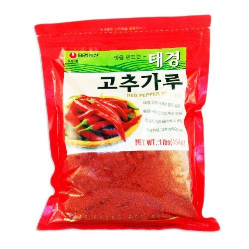 Korean Red Chili Flakes, Gochugaru (1 Lb) By Tae-kyung