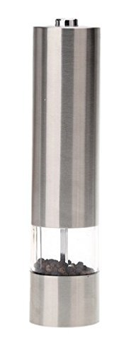 Heavy-duty Portable Electric Stainless Steel Pepper and Salt Mill Spice Grinder