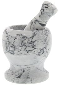 Marble Mortar and Pestle – Stone Mortar and Pestle – Dark Gray