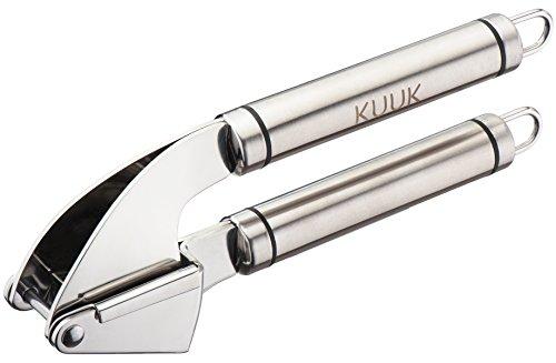 Kuuk Stainless Steel Garlic Press, Mincer – Silver