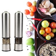 Teika automatic stainless steel pepper mill and salt grinder, Package of 2