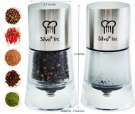 Silva Salt and Pepper Grinder Set – With 2 Adjustable Grinders – Premium Quality Ceramic Spice and Herb Grinder.