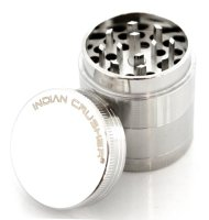 Indian Crusher 1.6 Inch Zinc 4 Piece Tobacco Spice Herb Grinder