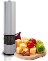 Eukein Automatic Electric Salt or Pepper Grinder Mill, Battery Powered with Light At Bottom
