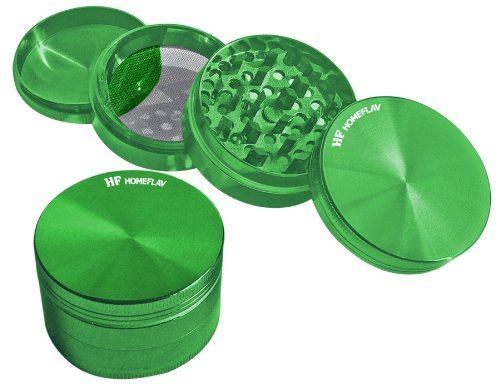HomeFlav Heavy Duty Premium Super Shredder Herb & Tobacco Grinder (green)