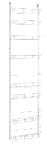 ClosetMaid 1233 Adjustable 8-Tier Wall and Door Rack, 18-Inch
