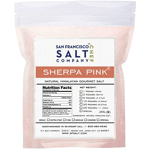 Sherpa Pink Himalayan Salt 25 Lbs Medium Grain