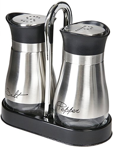 Salt and Pepper Shakers – Pepper & Salt Shakers w/ Stand, 4