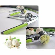Premium Garlic Press & Silicone Peeler with Cleaning Brush and Nut Cracker – Peel, Mince and Crush Garlic and Ginger Easily – Clean Fast with Included Brush – Bonus Nut Cracker – Vital Kitchen Tool!