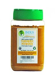 Indus Organic High Purity Turmeric Powder, 8 Ounce