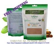 Certified Organic Fresh 1 LB/456g (152gx3) Pure Ceylon/True Cinnamon Powder(C.Zeylanicum)Sulfur Free-Gourmet