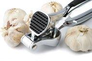Professional Garlic Press, Best Mincer-Presser-Crusher-Slicer of Garlic Cloves, Large Capacity Self Cleaning, Ergonomic Design, Comfortable Silicon Non-Slip Handles, Heavy Duty Construction