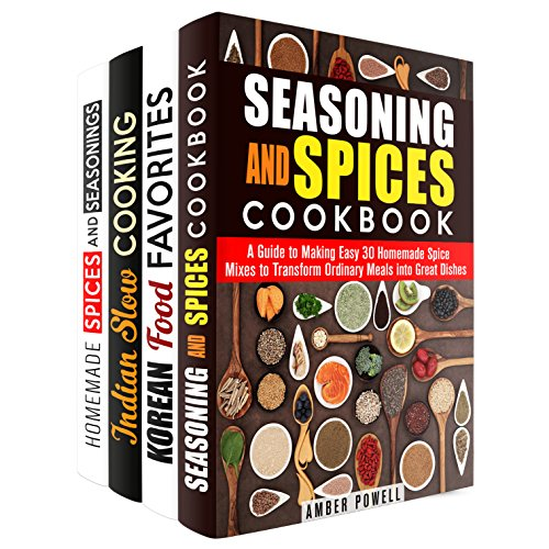Spice Mixes Box Set (4 in 1): Homemade Spices and Seasoning Perfect for Your Korean and Indian-Inspired Recipes (Dried Herbs)