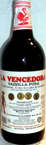 La Vencedora Pure Mexican Vanilla Extract 31oz – 1L For 1 Glass Bottle Product From Mexico