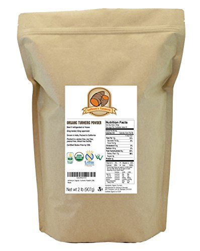 Organic Turmeric Root Powder (2lb) by Anthony's, Certified Gluten-Free & Non-GMO (32 ounces)
