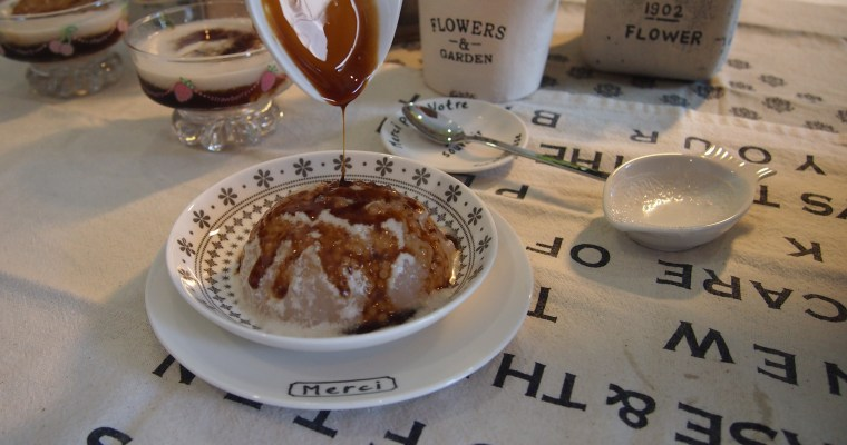 Super Easy Dessert: Sago Pudding with Gula Melaka// 椰糖西米露布丁