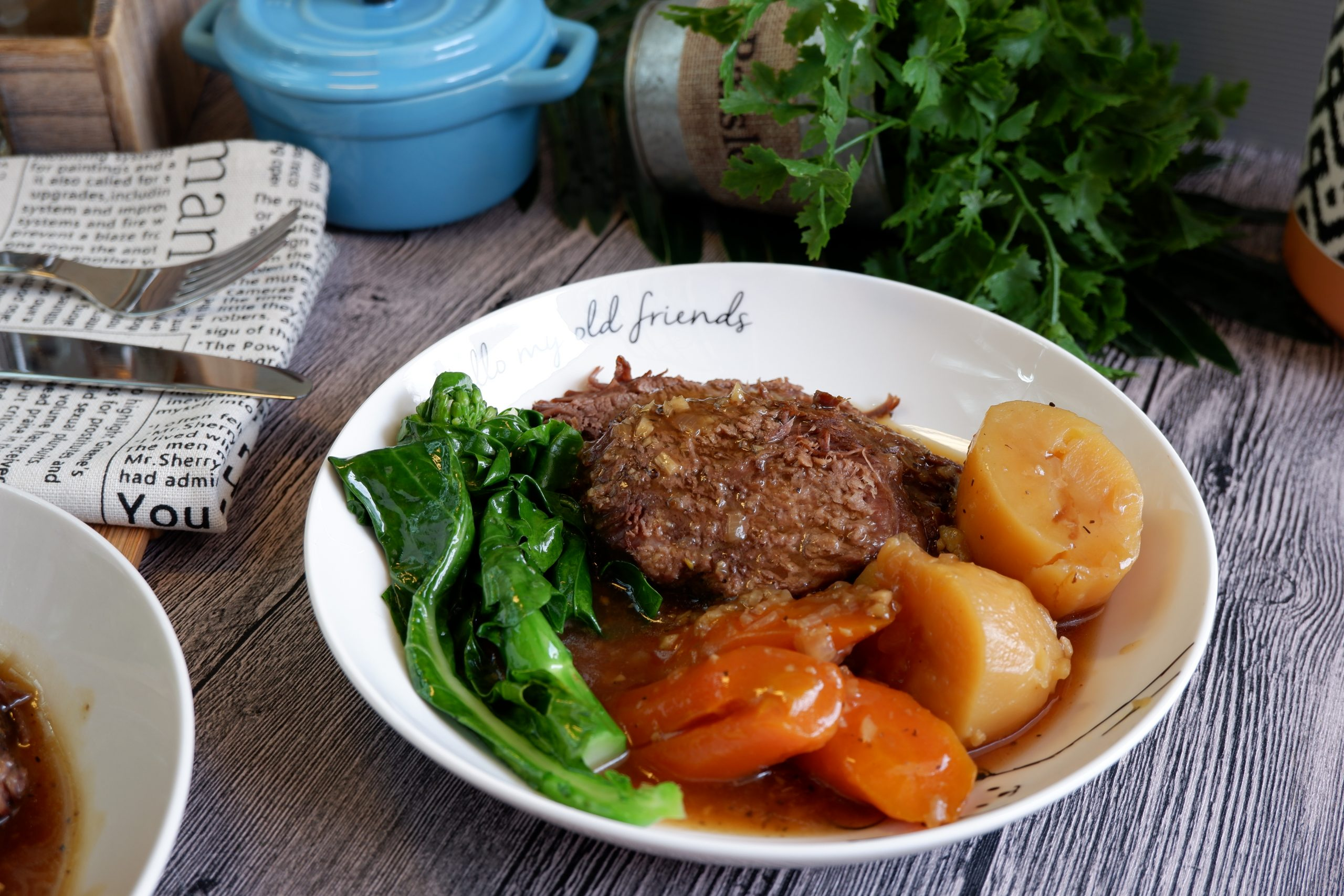 Super Easy Pressure Cooked Asian Style Pot Roast