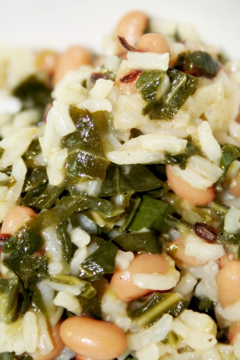 Hoppin' John (Black-eyed Peas and Rice with Collard Greens) © Spice or Die
