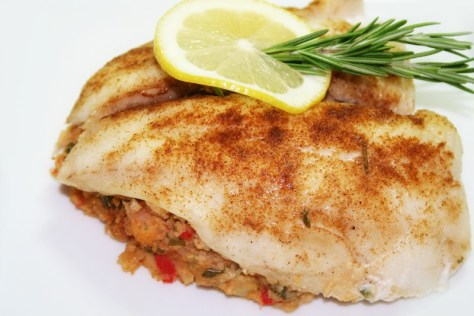 Spicy Stuffed Flounder © Spice or Die