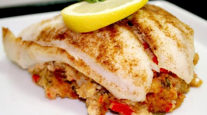 Spicy Stuffed Flounder