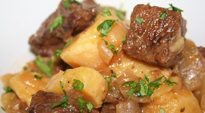 Rooibos Beef Stew with Sweet Potatoes
