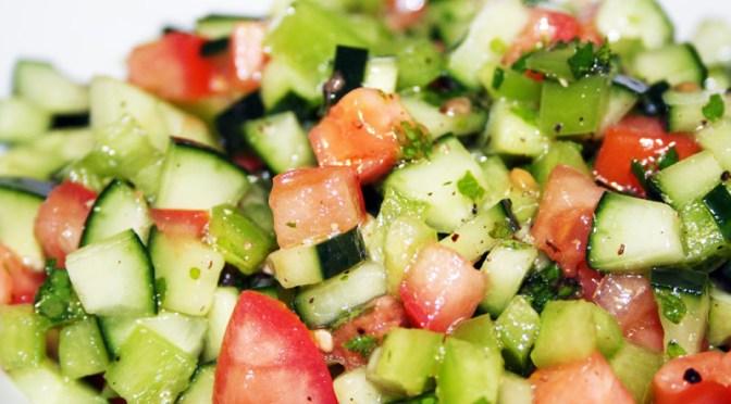 Israeli Cucumber Salad