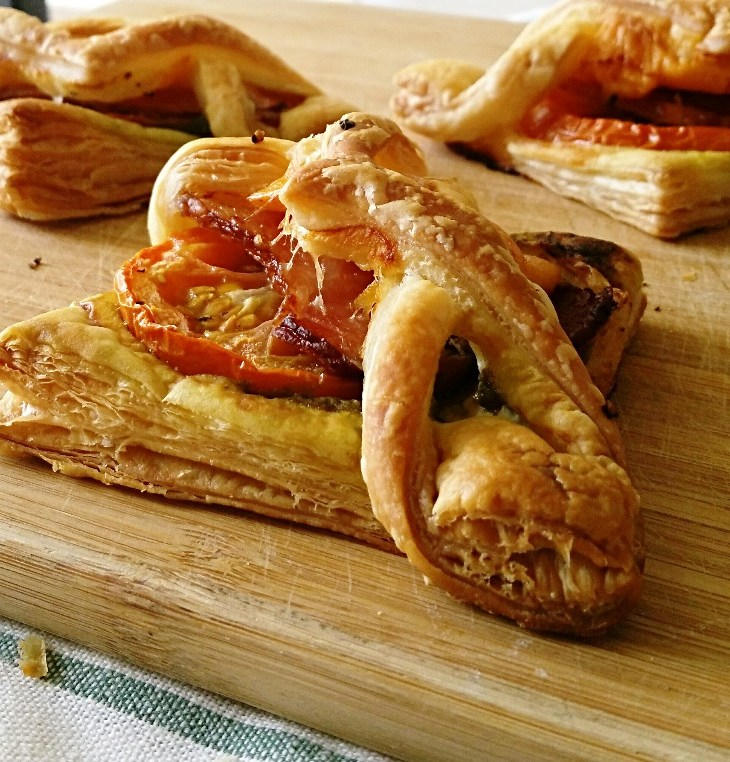 breakfast pastries on a cutting board