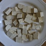diced tofu in bowl