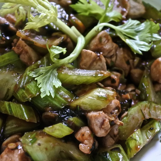 Pork and Celery Stir-Fry