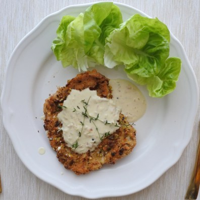 Pork Schnitzel with cream sauce (5)