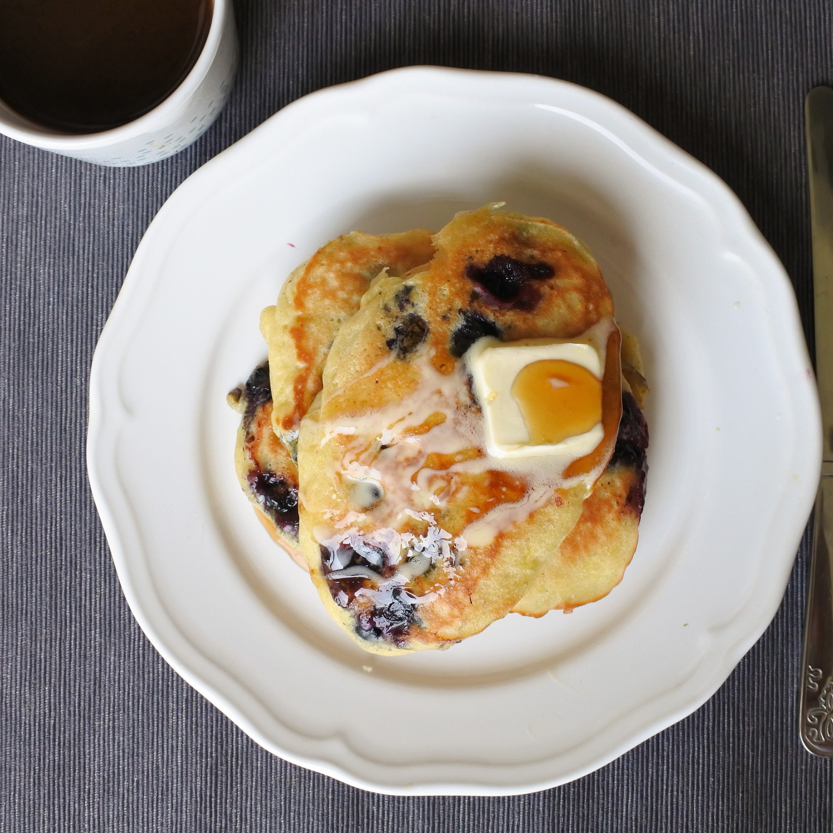 Blueberry, Lemon and Ginger Pancakes