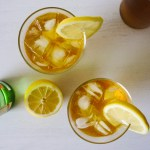 Korean Iced Tea with lemon slices