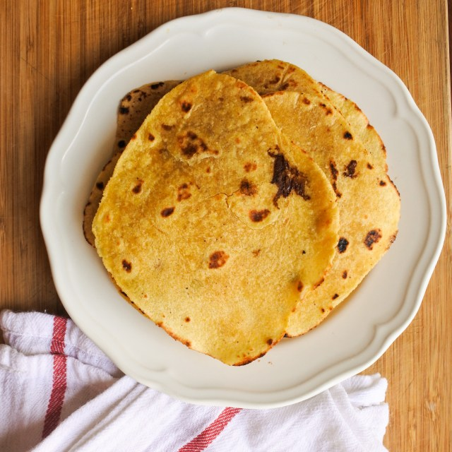 Corn Tortillas on a plate