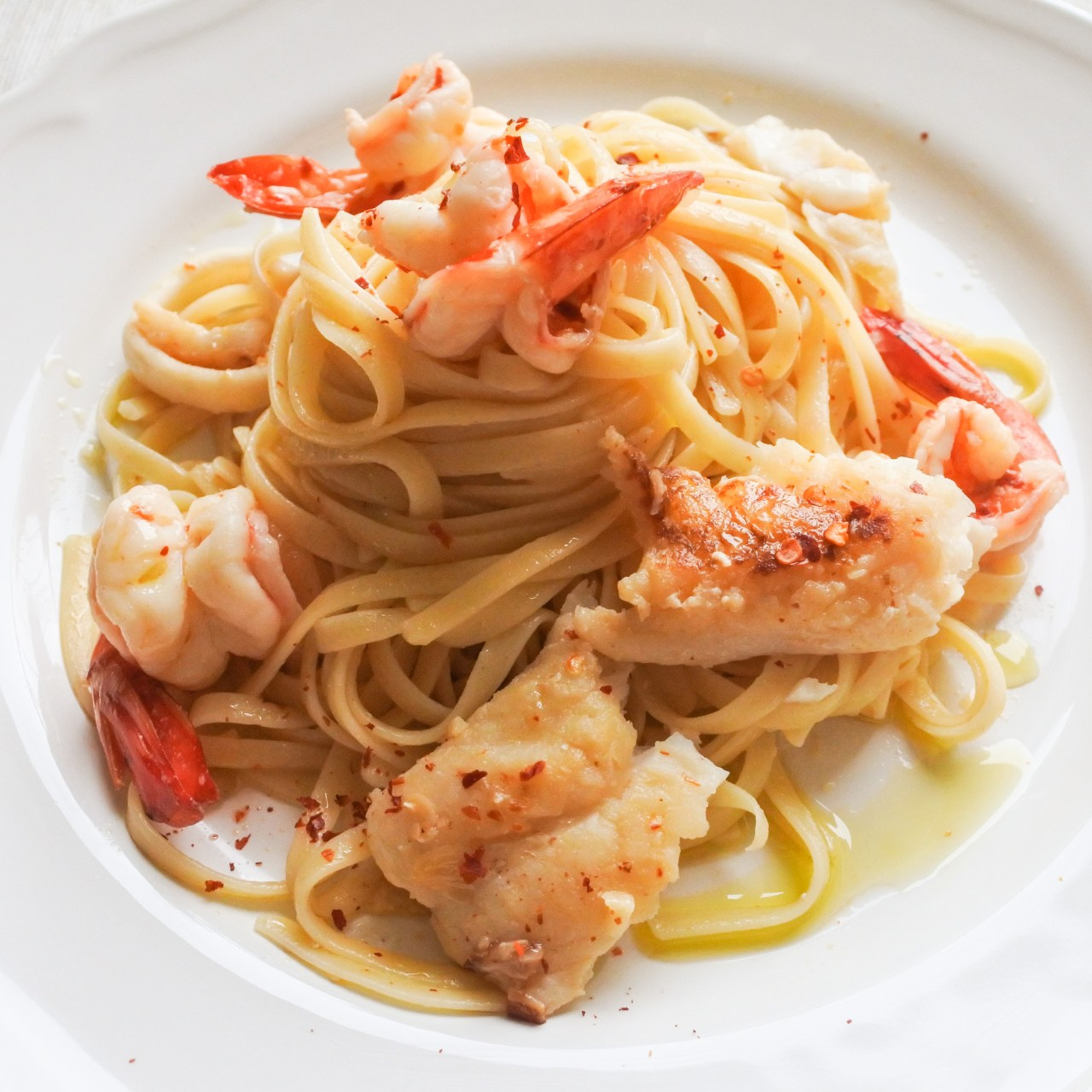 Spicy Seafood Linguine 11