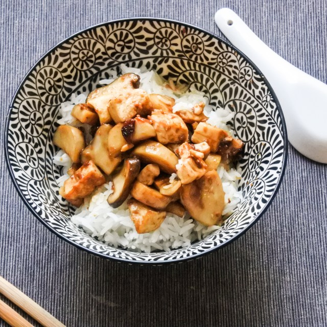 Tofu and Mushrooms in Soybean Sauce 12