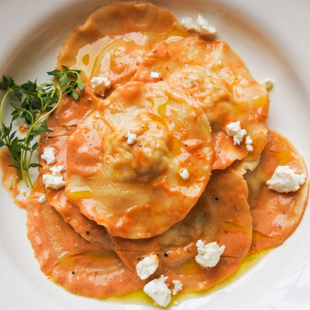 Chicken Ravioli with Sun-Dried Tomato Cream Sauce 2