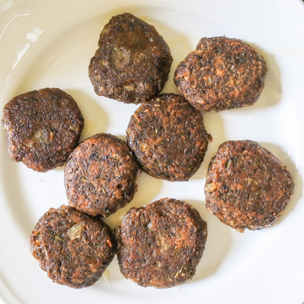 Cooked lentil cakes on a plate