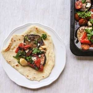 Sumac Roasted Vegetables with Naan