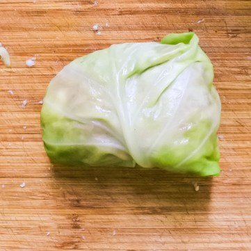 Wrap up and place in a casserole dish, wrapped up side down.